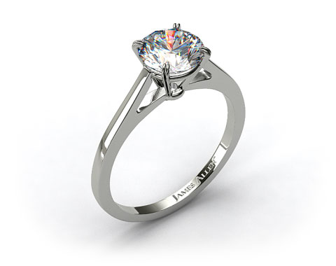 Platinum Double Claw Prong Engagement Ring
